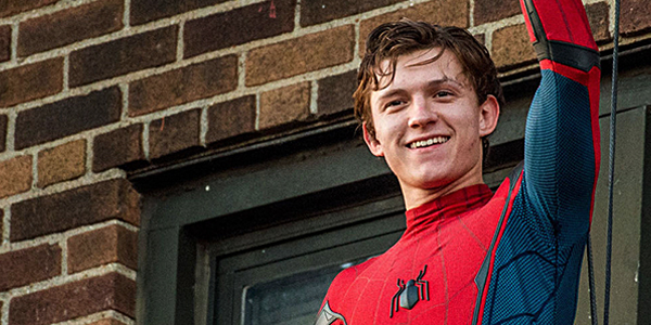 Tom Holland as Spider-man in Spider-man Homecoming