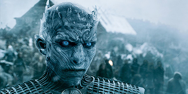 The Night's King of the White Walkers in Game of Thrones