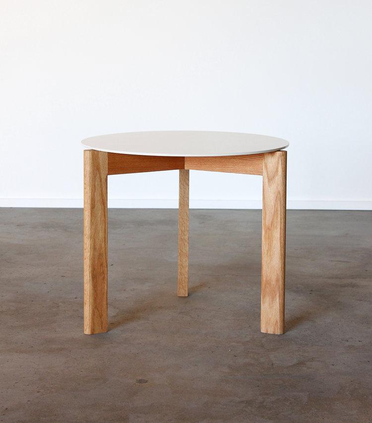 Sunfair Oak White Metal Side Table