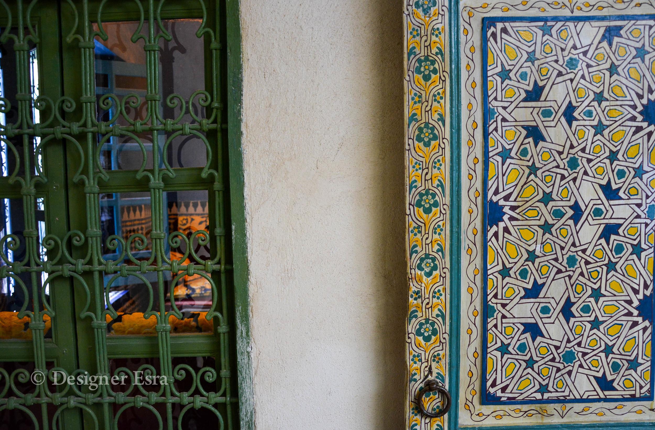 Islamic Pattern on Wooden Door