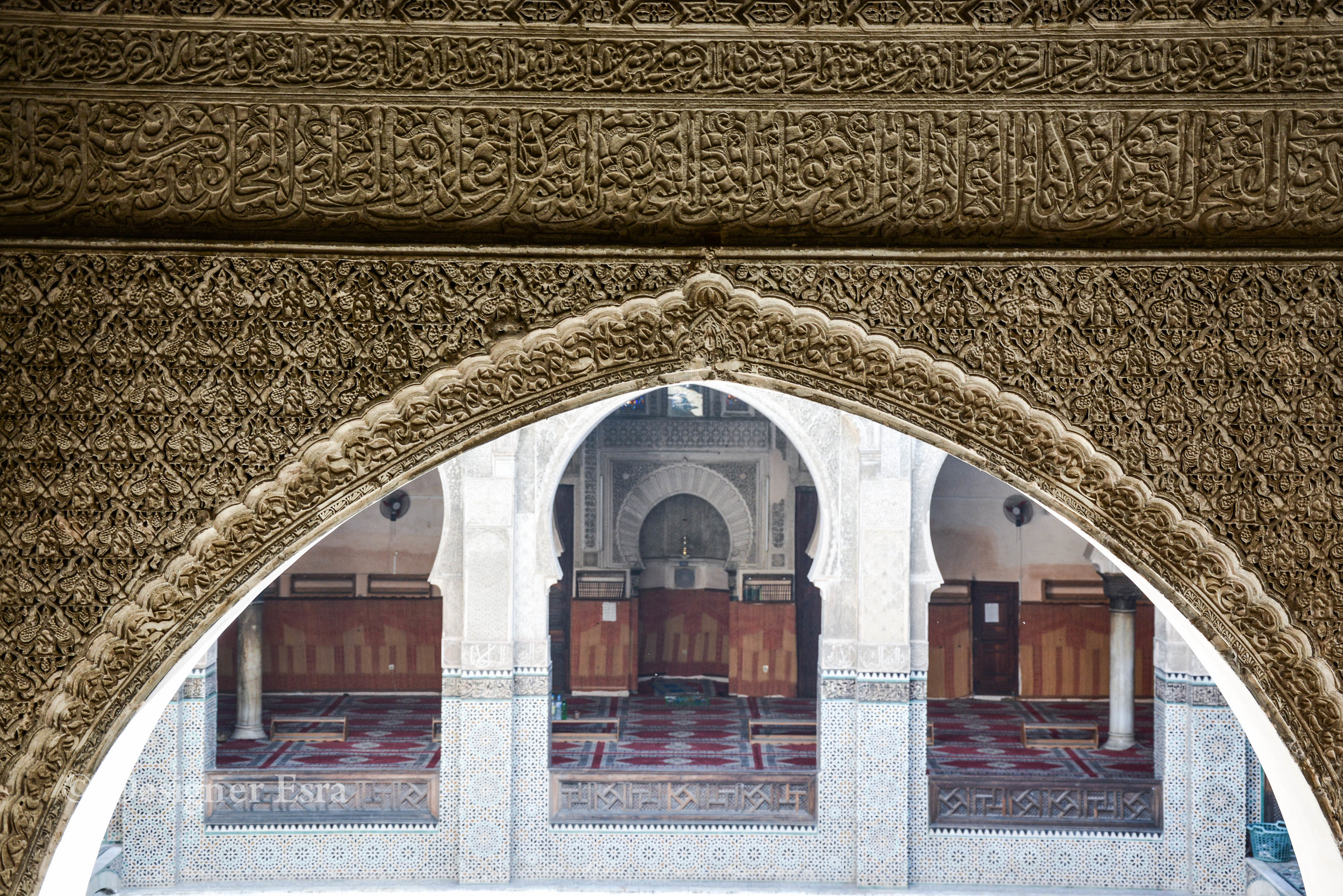 Arches and carvings in Islamic Architecture