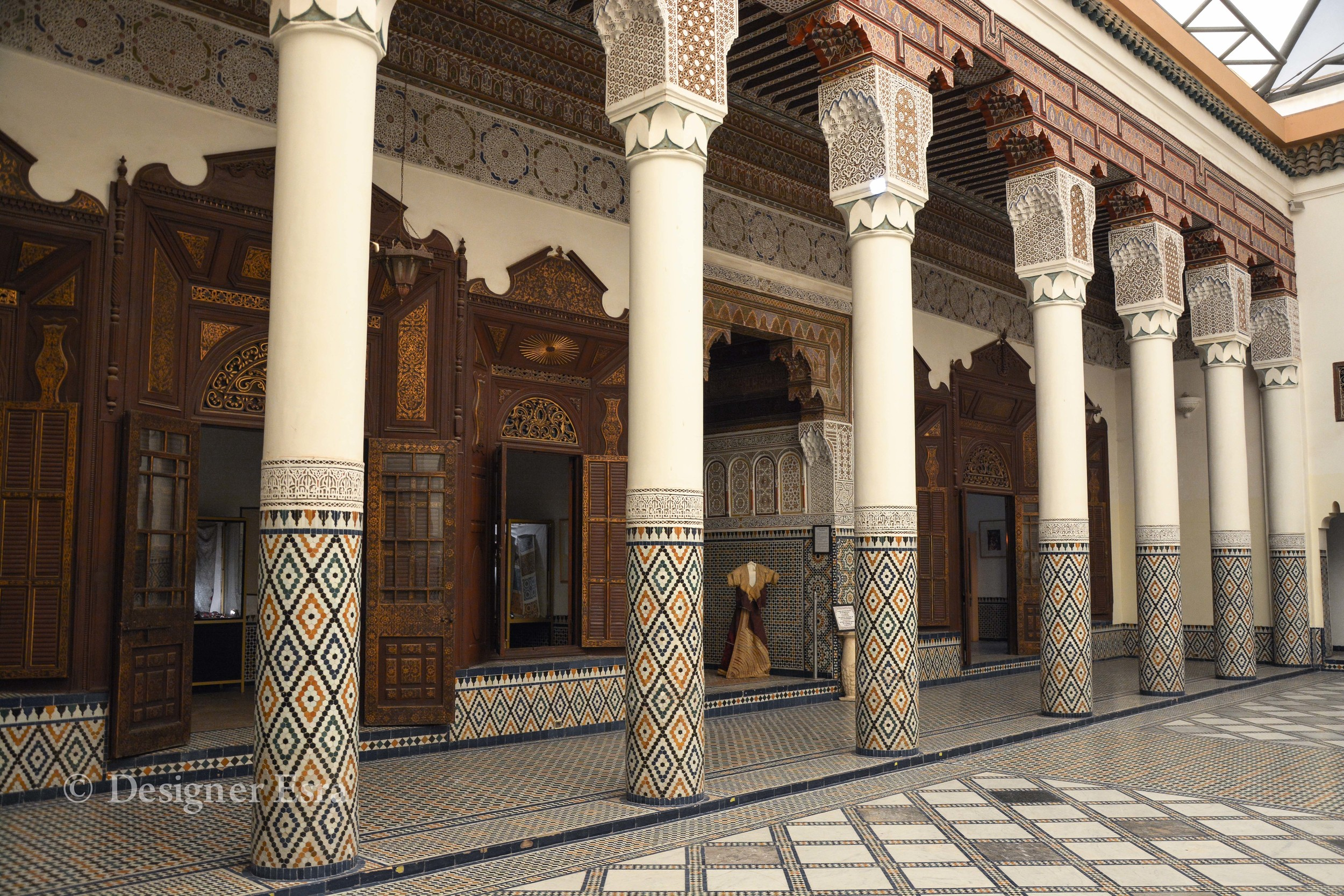 Islamic Patterned Columns