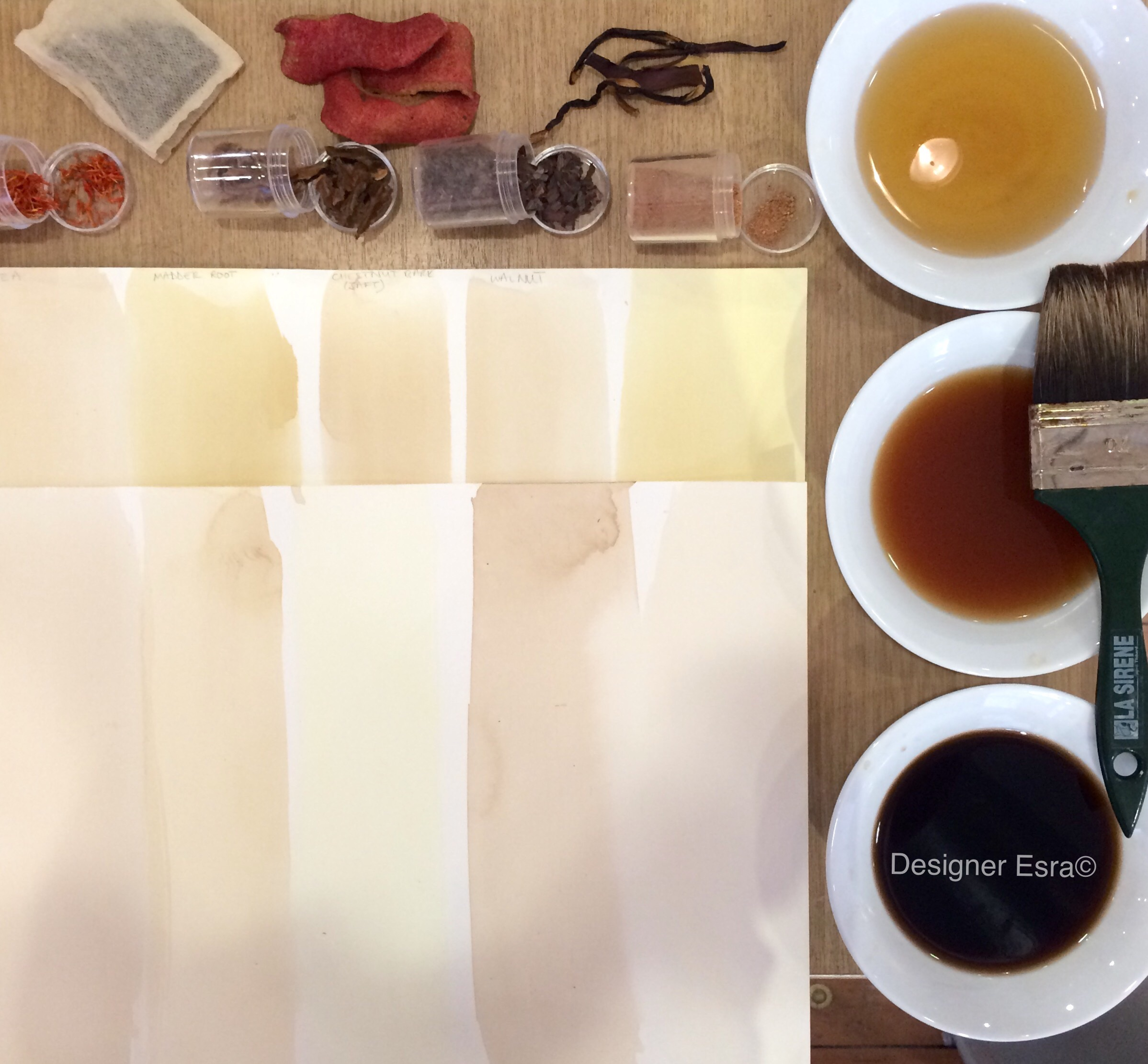 Staining Paper with tea and other natural colours