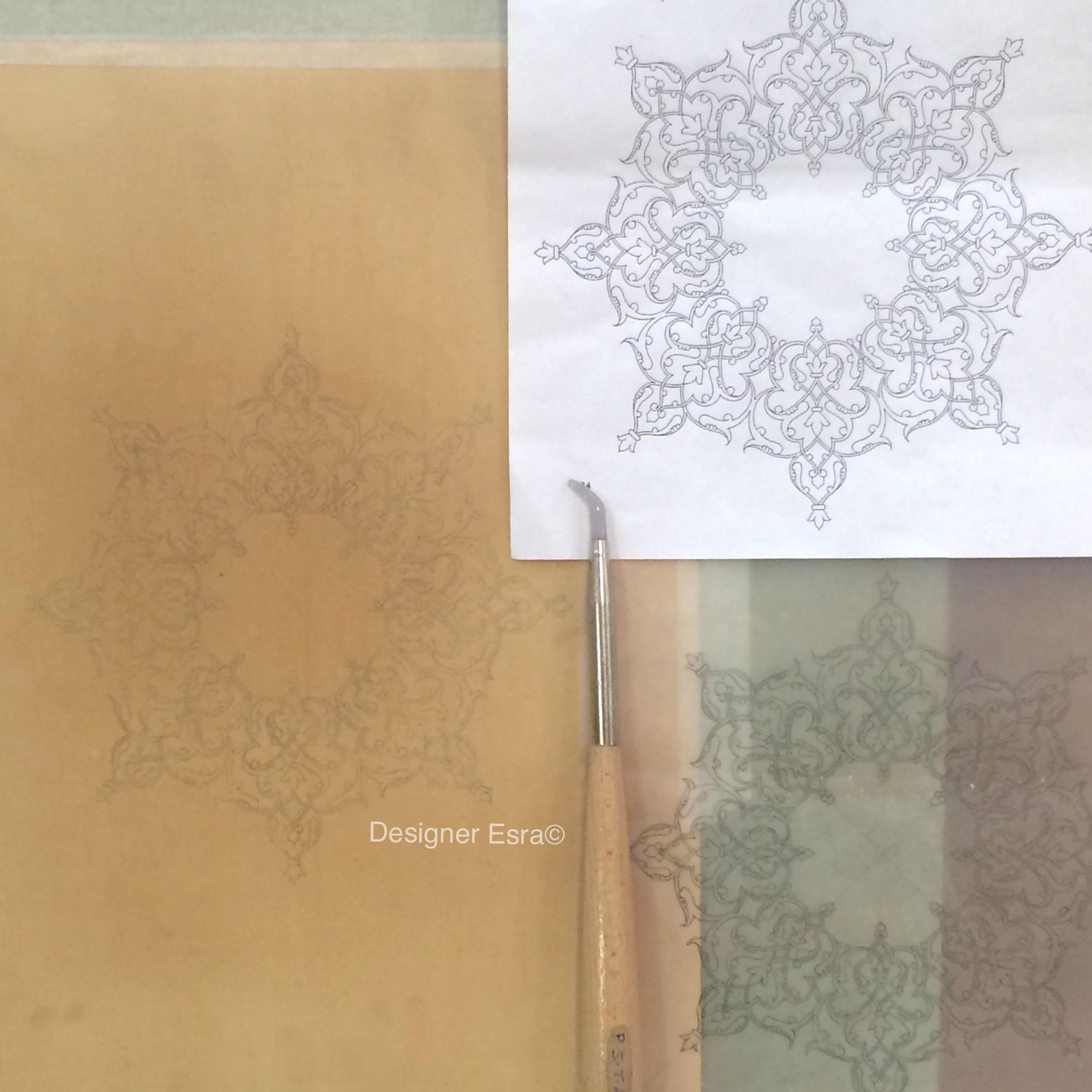 Persian Islimi design for Islamic illumination