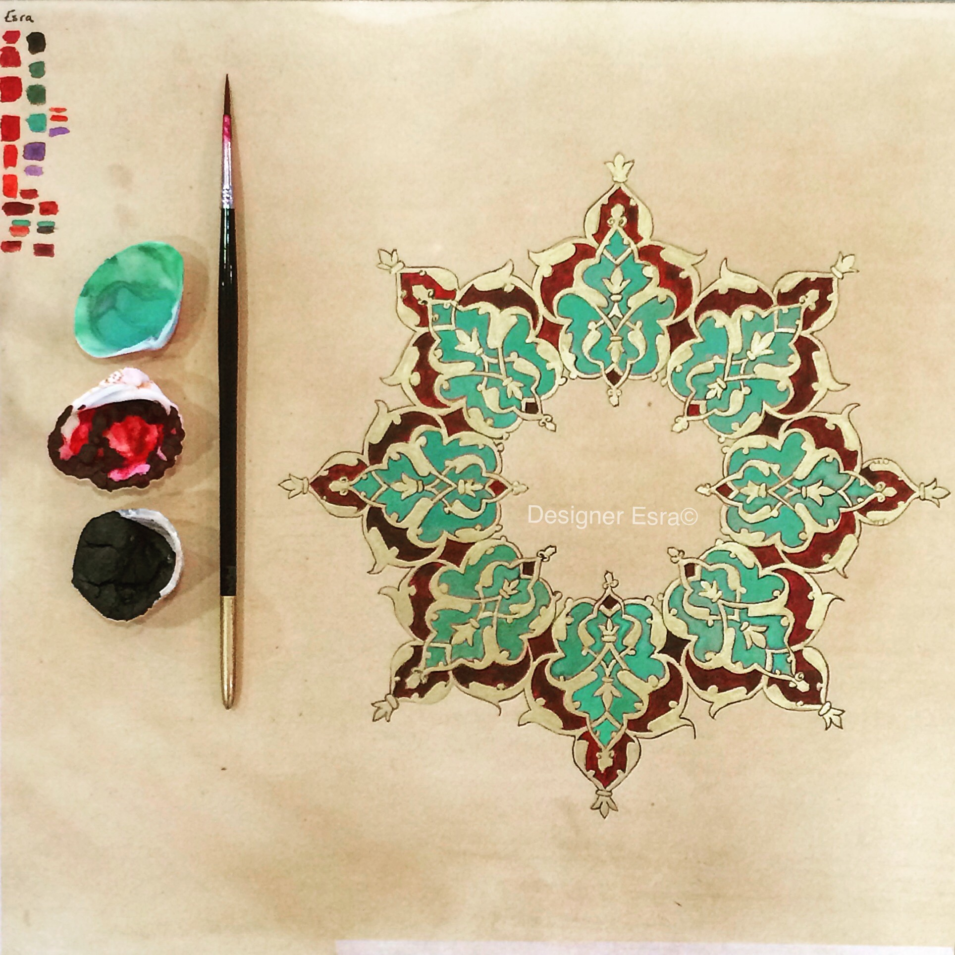 How to paint an Islamic illumination