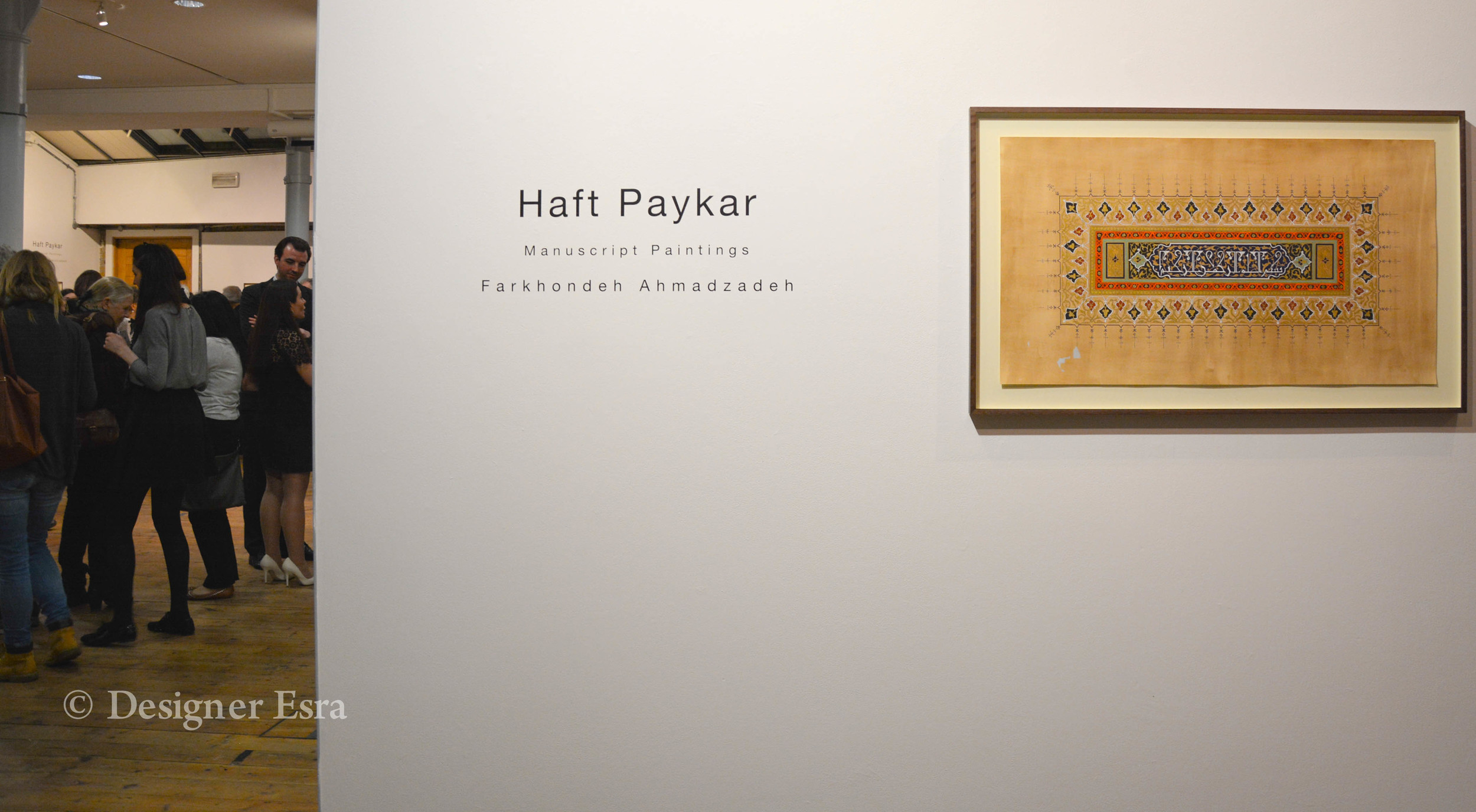 Haft Paykar Exhibition by Farkhondeh Ahamadzadeh