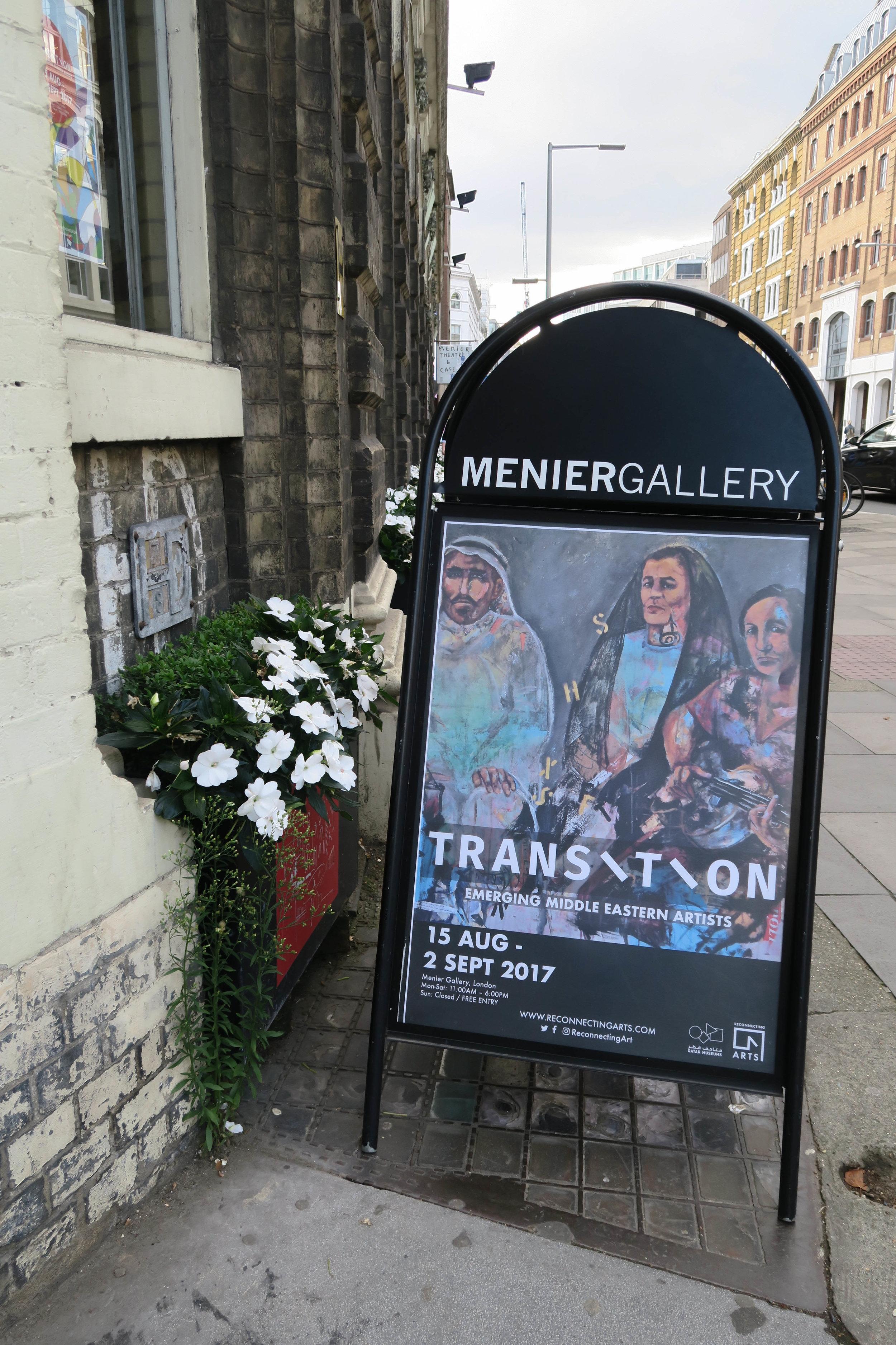 Transition Exhibition in Menier Gallery