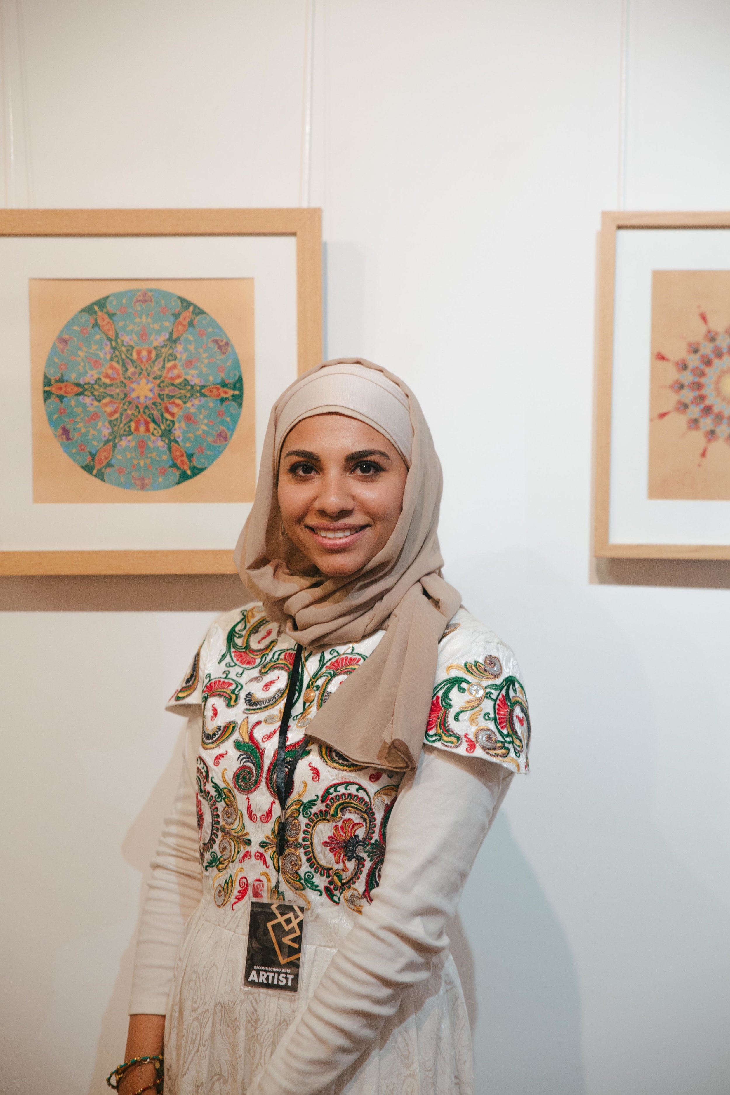 Saudi Artist in London, Islamic Illumination, Esra Alhamal