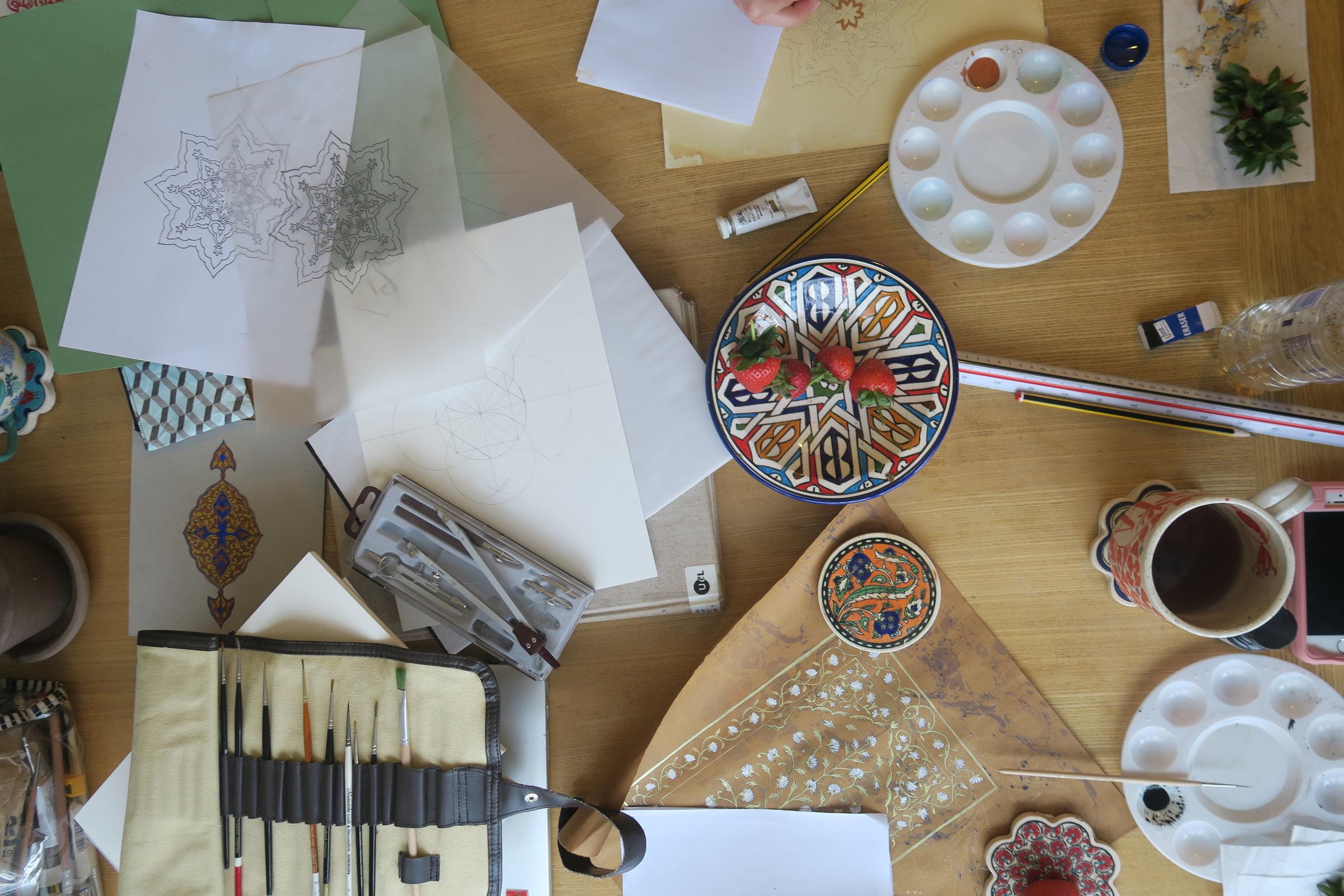 Private Islamic Art workshop/ Islamic illumination workshop in London