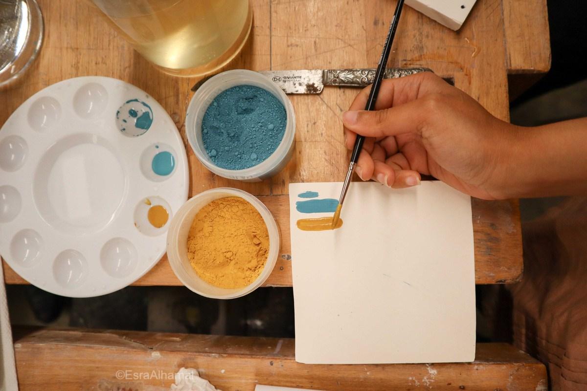 Testing homemade ceramic glaze
