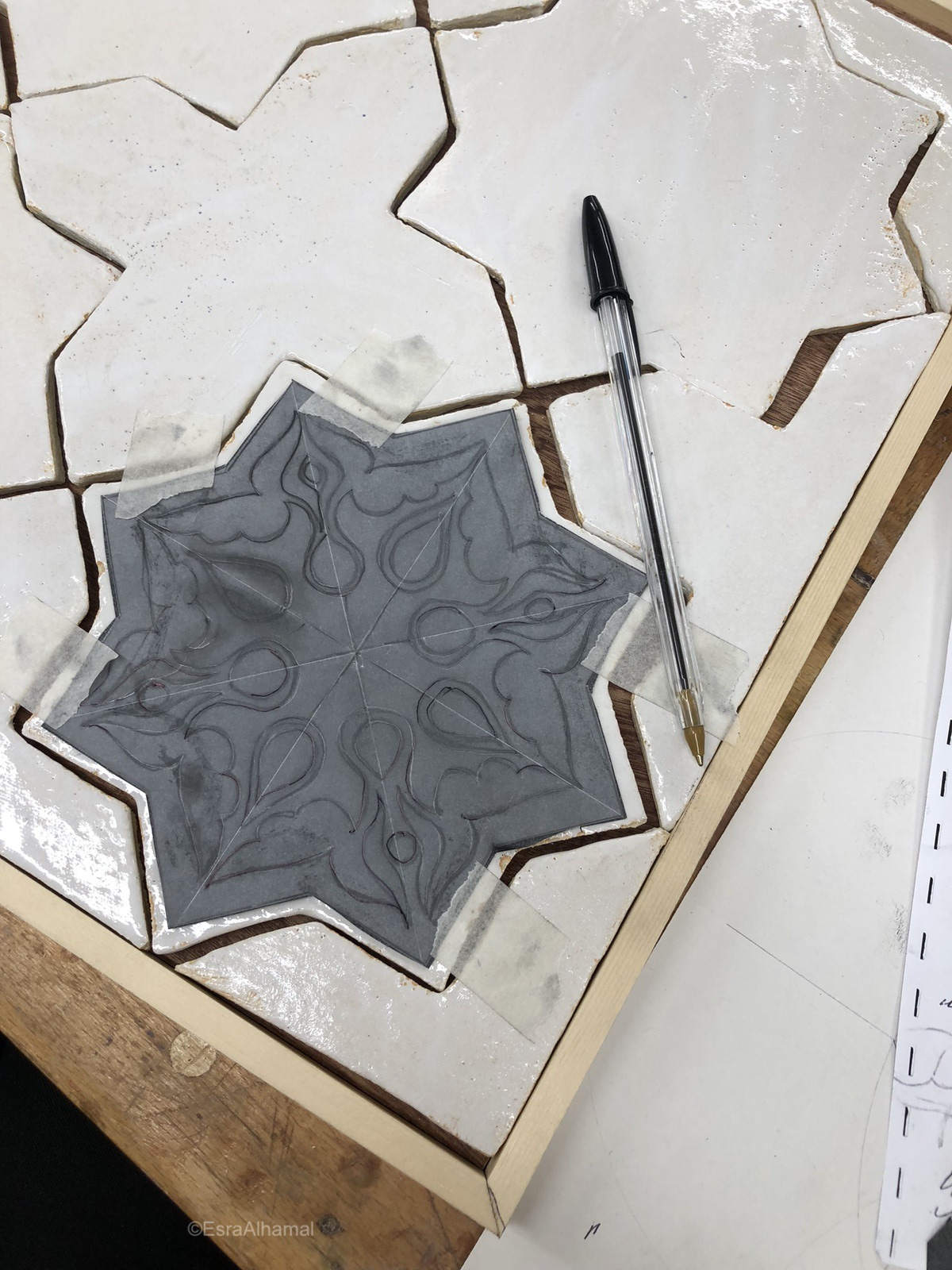 Transferring Design from paper to tile
