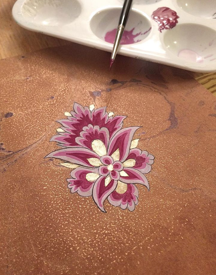 painting flowers in Islamic Art