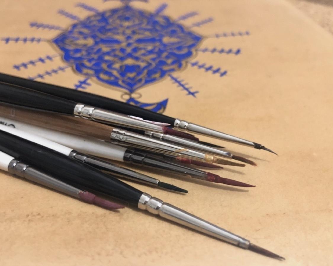 Islamic illumination Brushes - Click to read