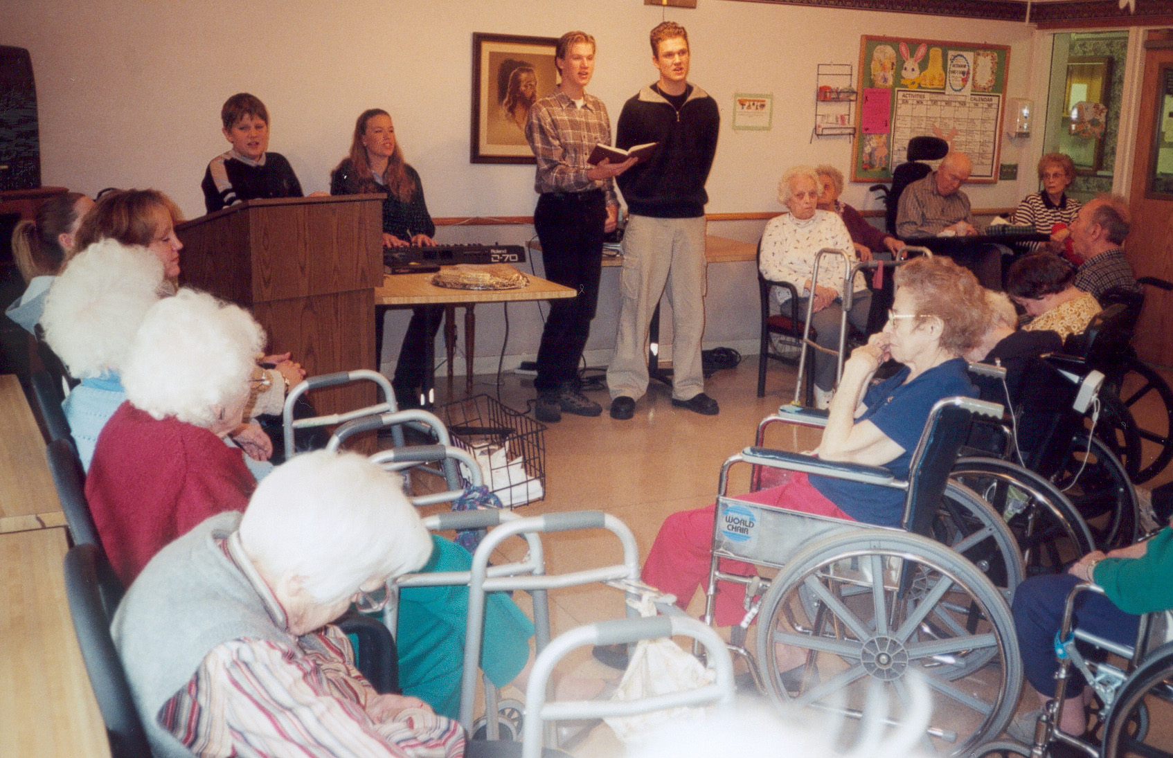 Ministering at a nursing home in Minneapolis
