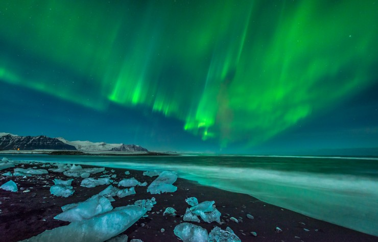 Northern lights in IcelandCredit: Shutterstock