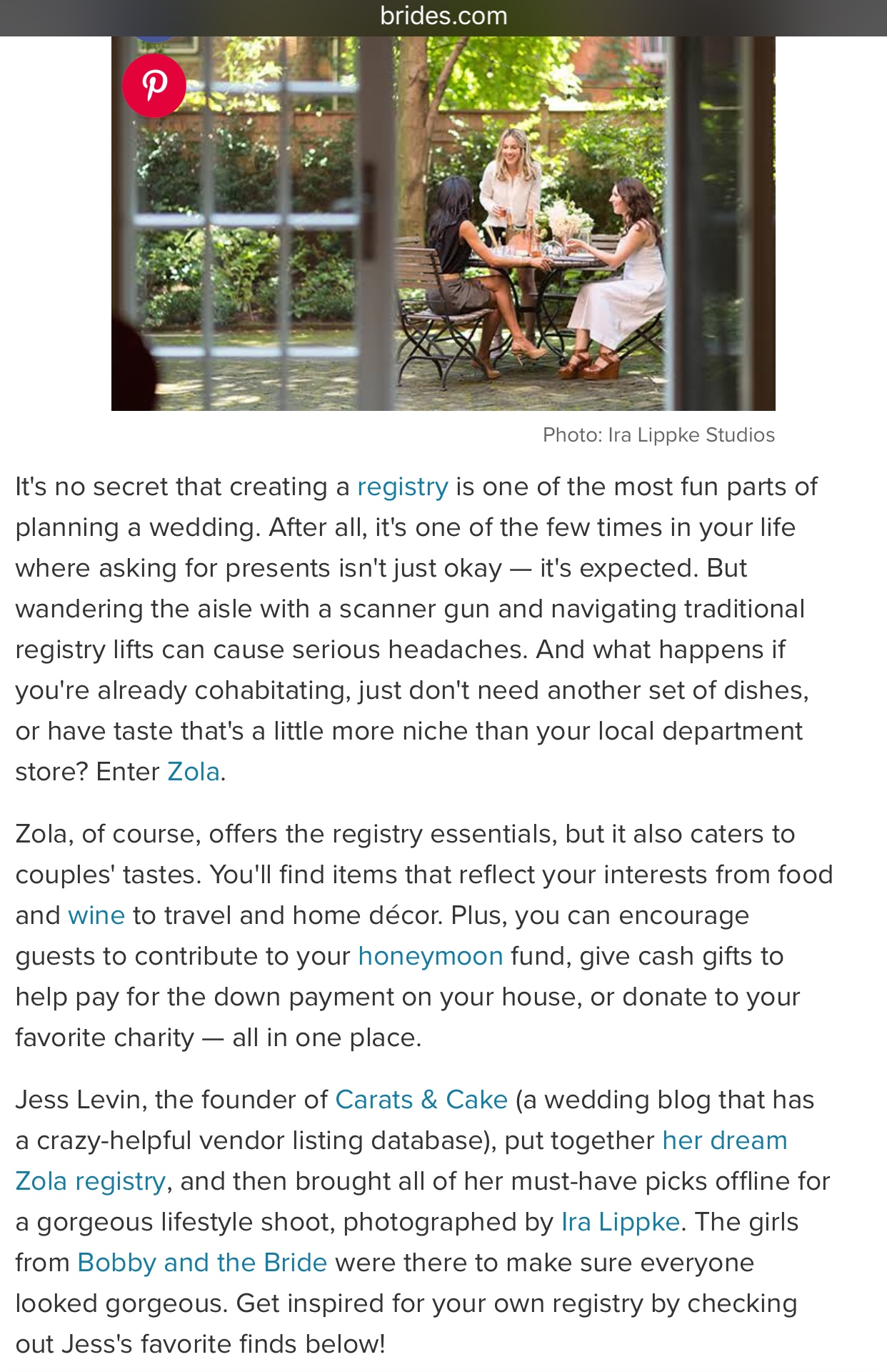 BRIDES CARATS AND CAKE