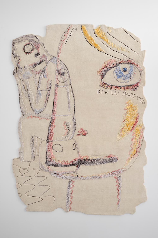 "Bjarne Melgaard   Untitled (01) , 2017  61"" x 82.5""  Hand knotted wool & silk"