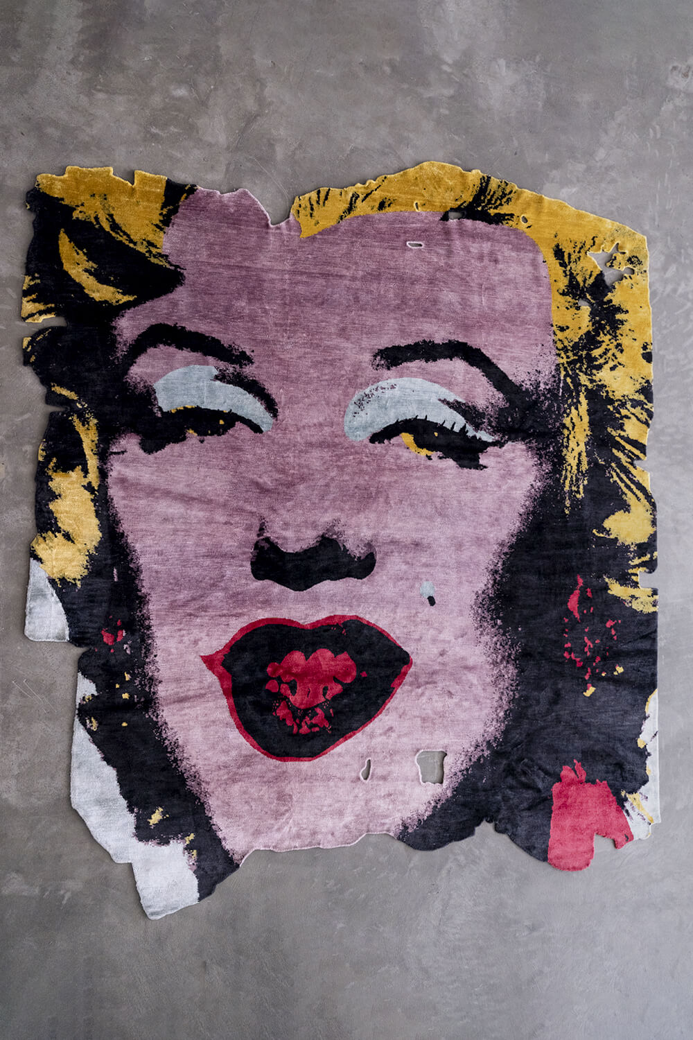 "Andy Warhol   Marilyn , 1967, designed by Calle Henzel  96"" x 110""   Hand knotted silk"