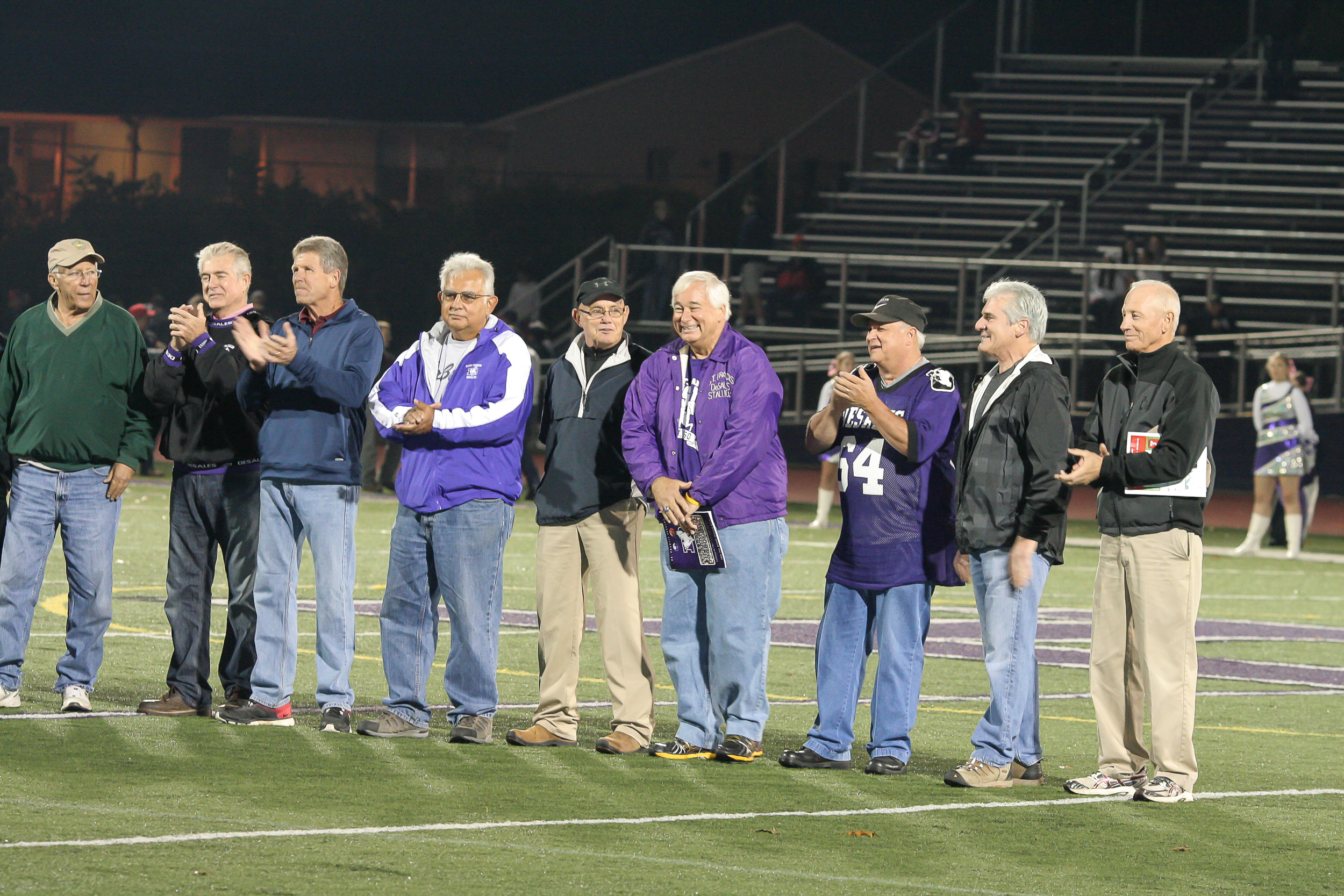 Celebrating the 50 year anniversary of the 1964 CCL Championship Team  Alumni Stadium 10/3/2014
