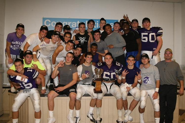 Winner's Cup Celebration after beating Watterson  (photo credit - Barb Dougherty)
