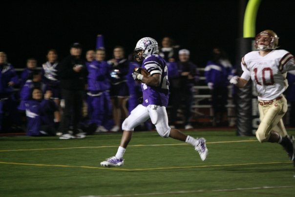 Adam Griffin (24) puts the game out of reach with his second touchdown (photo credit - Barb Dougherty)