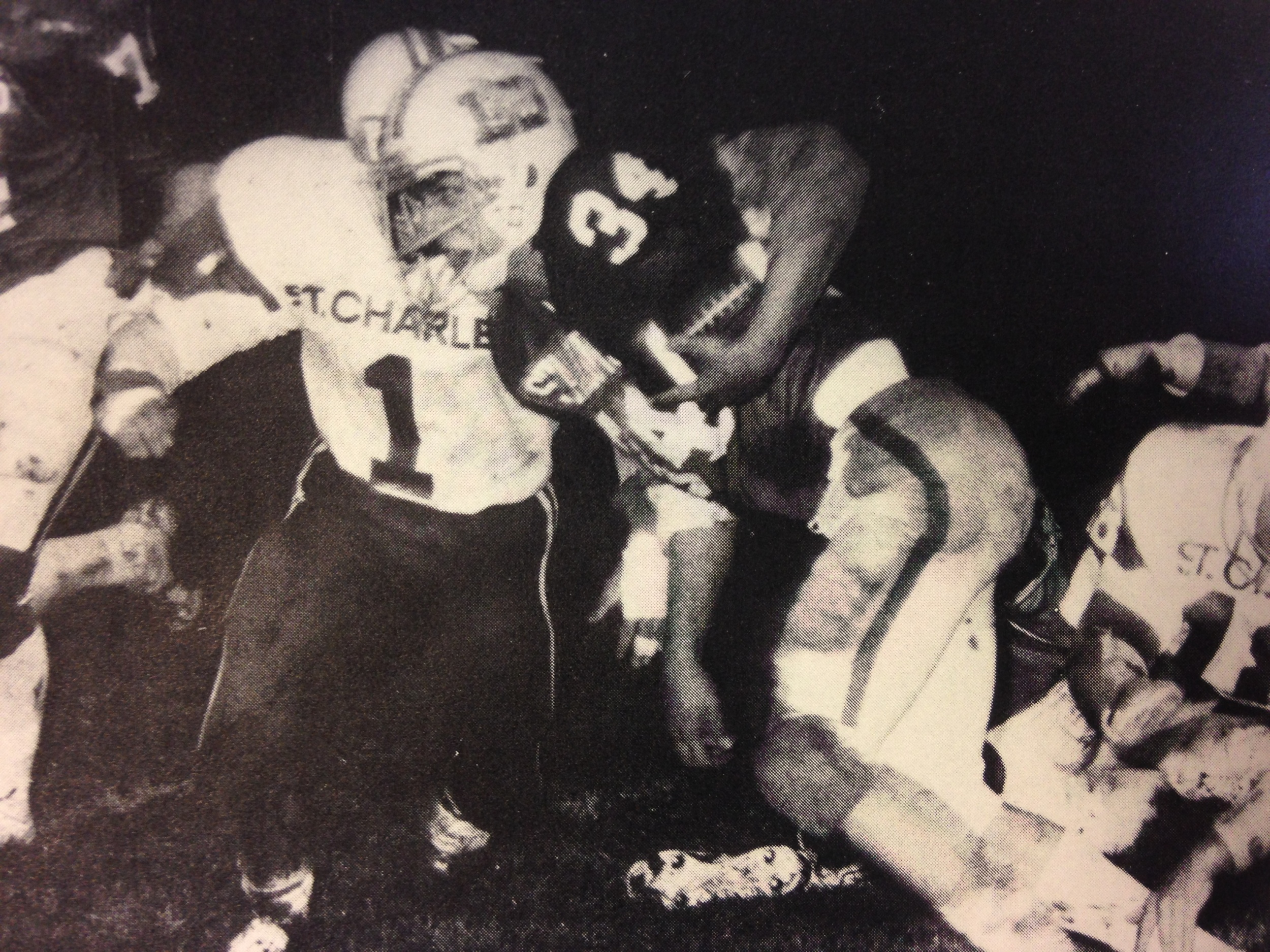 Greg Diehl (34), a 1976 All-CCL running back, carries the ball for the Stallions