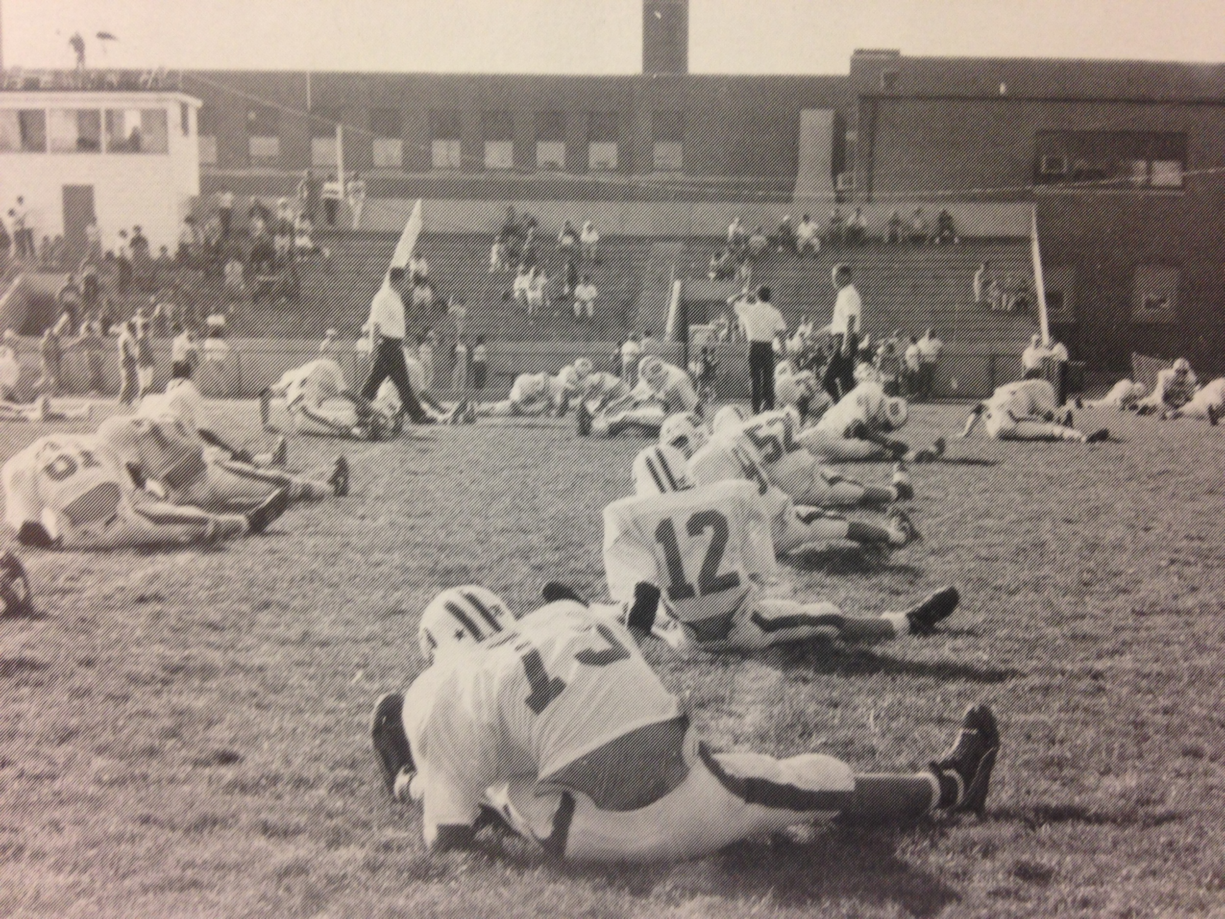 Pregame before the 1986 St. Charles contest as the Stallions were looking for their 20th straight win