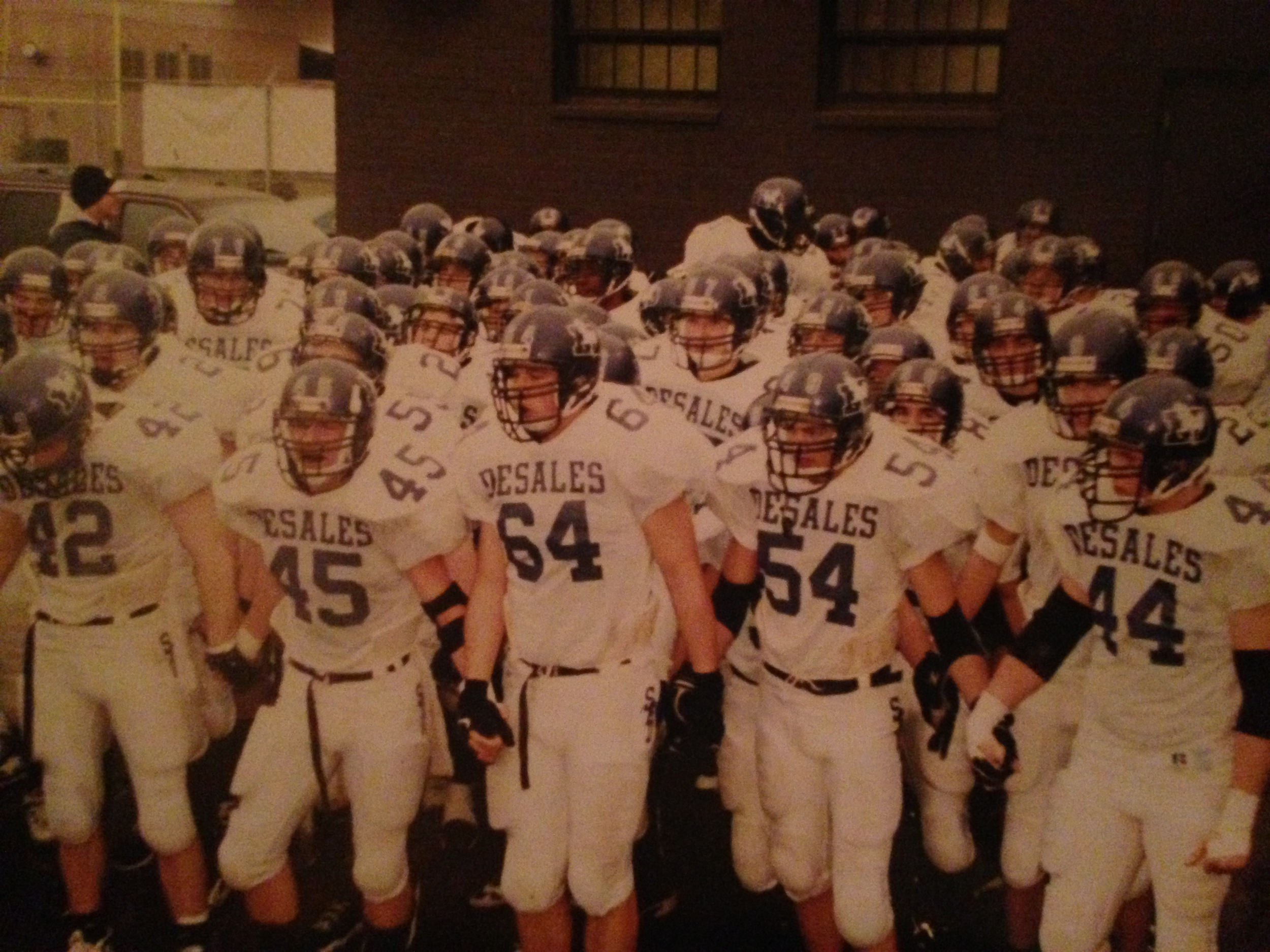 The 1997 team prepares to take the field at Paul Brown Stadium before the OHSAA Division-III State Final