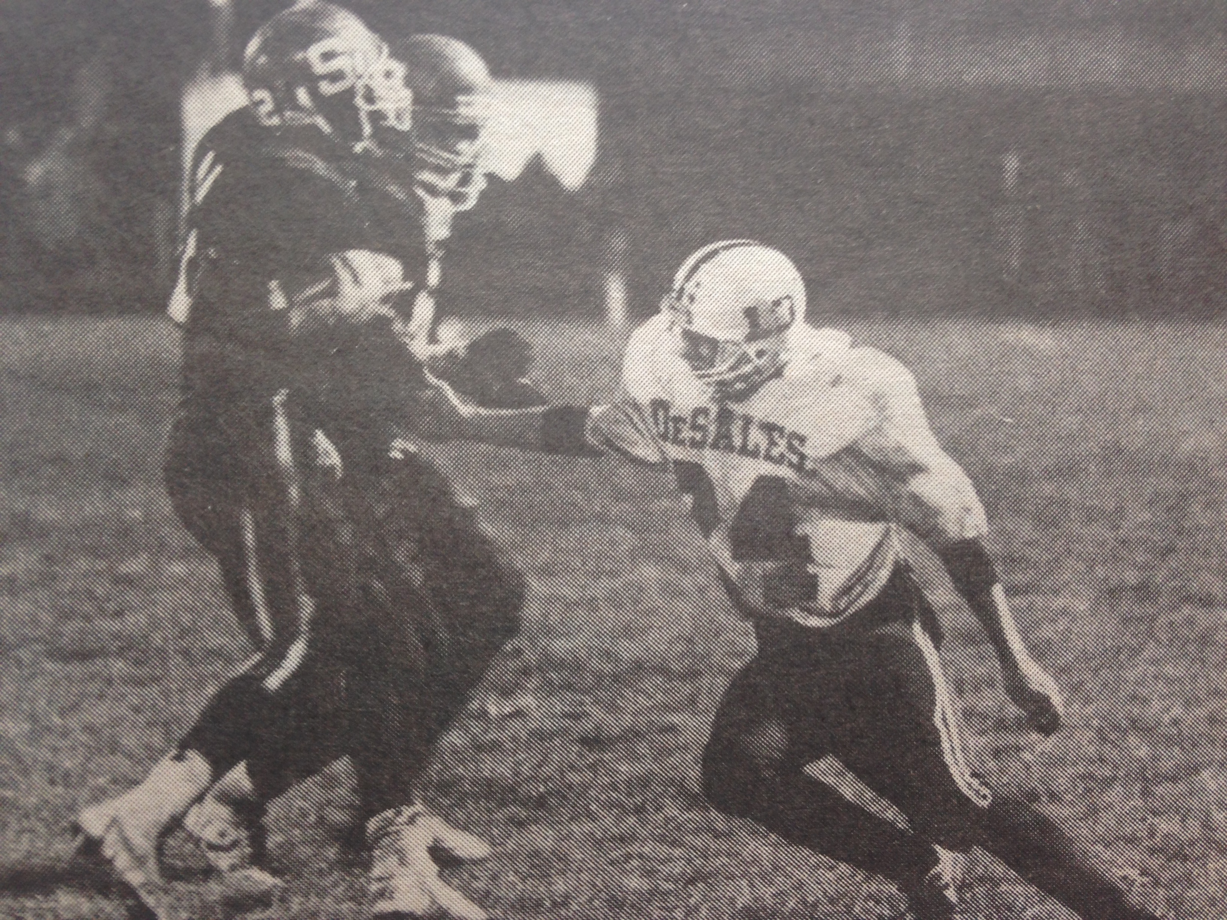Billy Luscko (24) had one of two Stallion interceptions