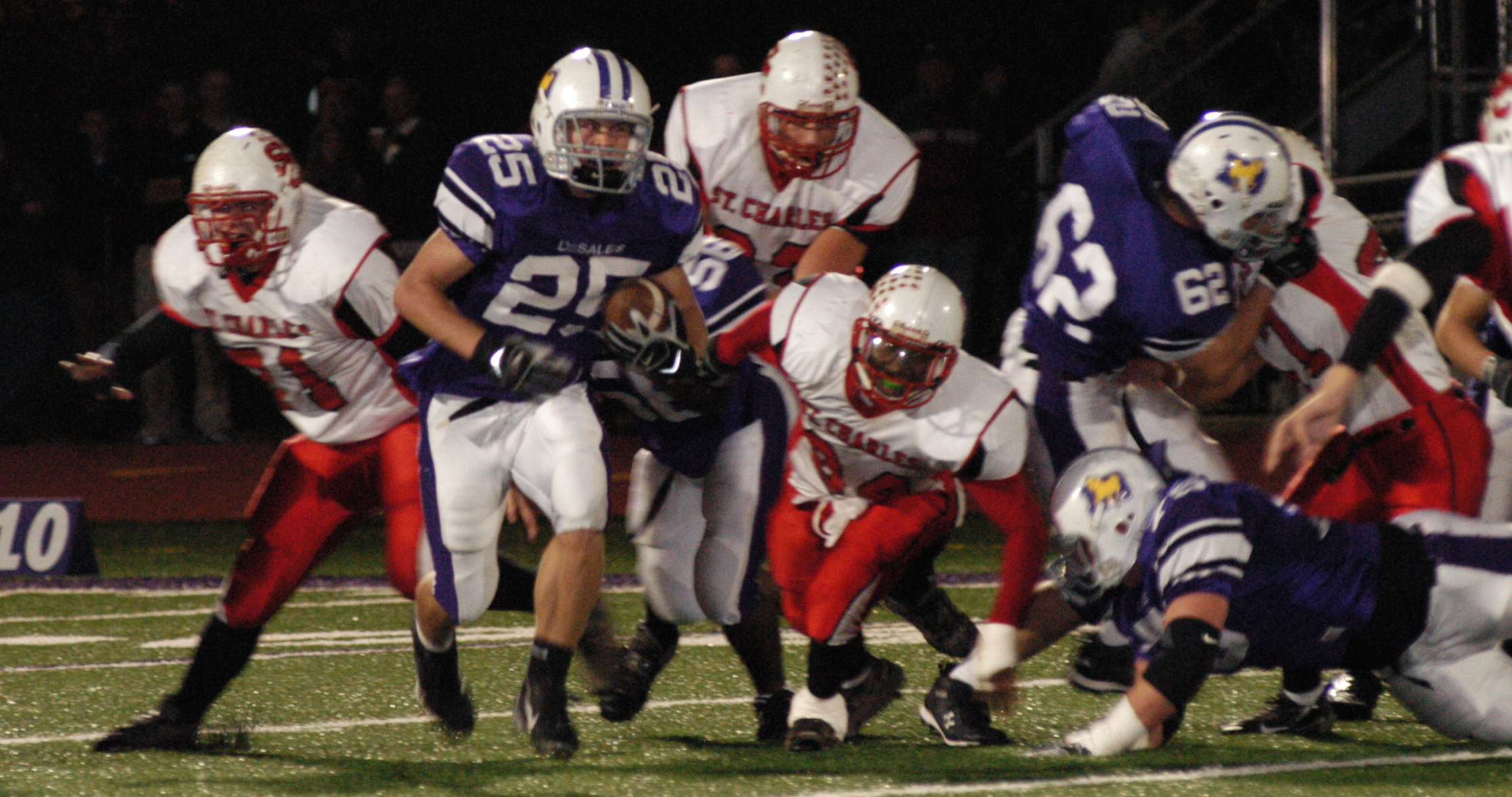 Junior running back Ryan Clark (25) rushed for 151 yards in the 30th straight win over St. Charles