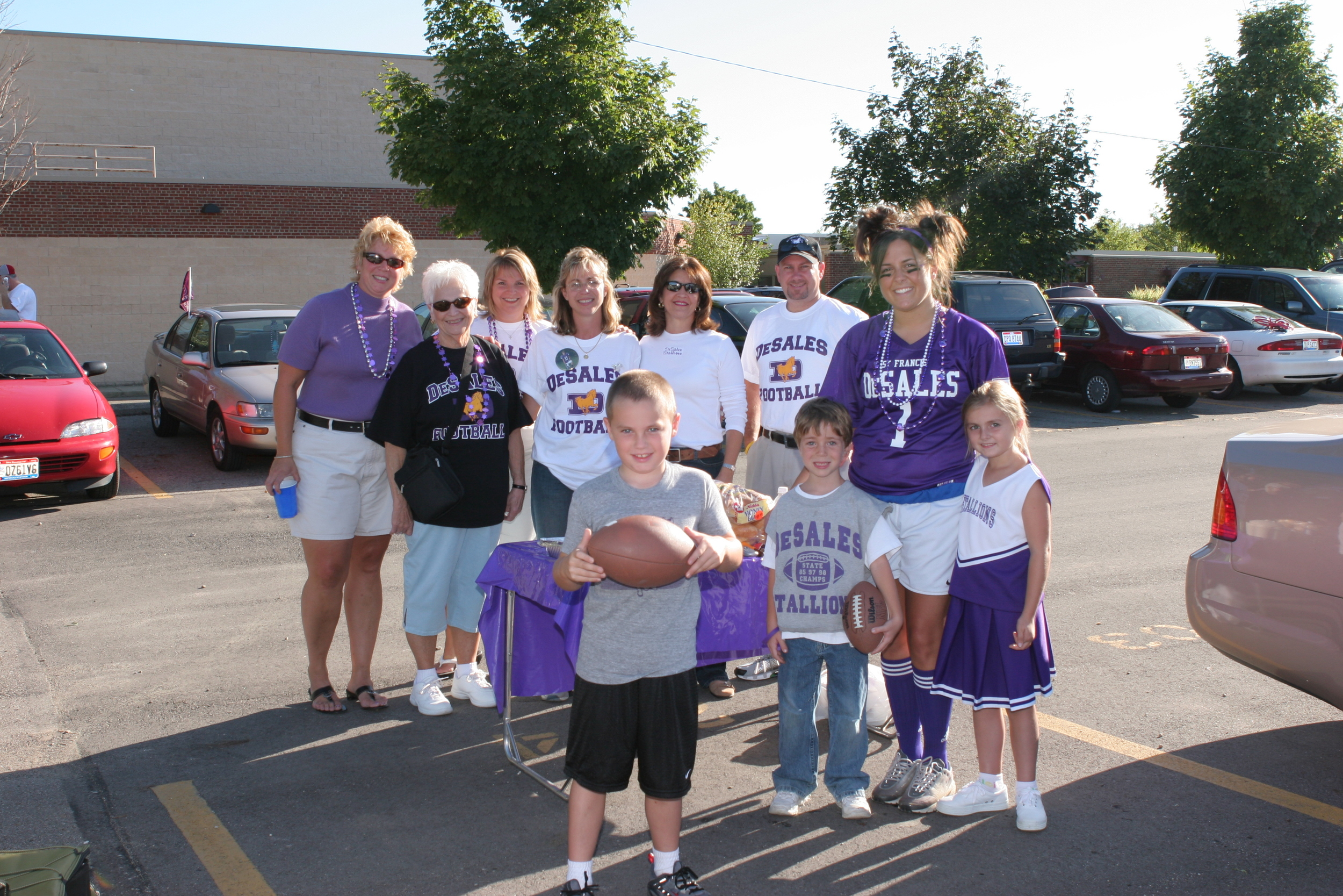 Stallion fans gather before the home opener in 2005