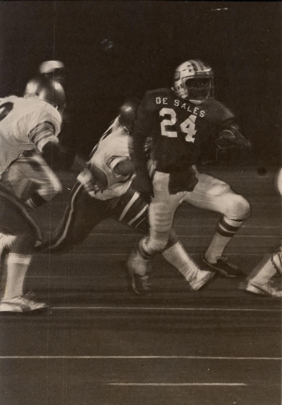 Eric Holleman '80, quarterback