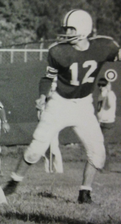 Ken Schneider (#12) in 1963 vs. University High School at OSU Practice Fields