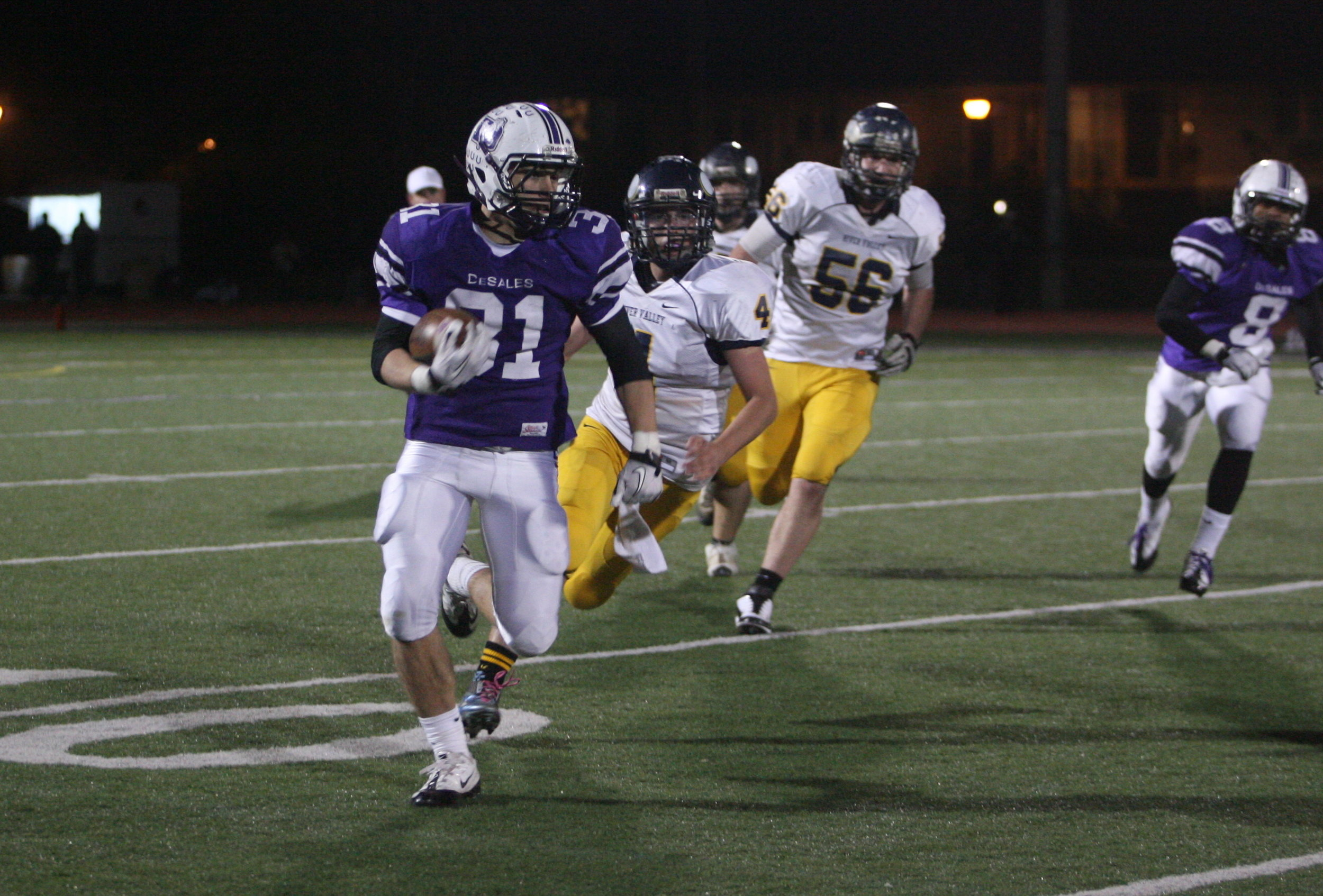 Blubaugh carries it in a Regional Quarterfinal against River Valley in 2011