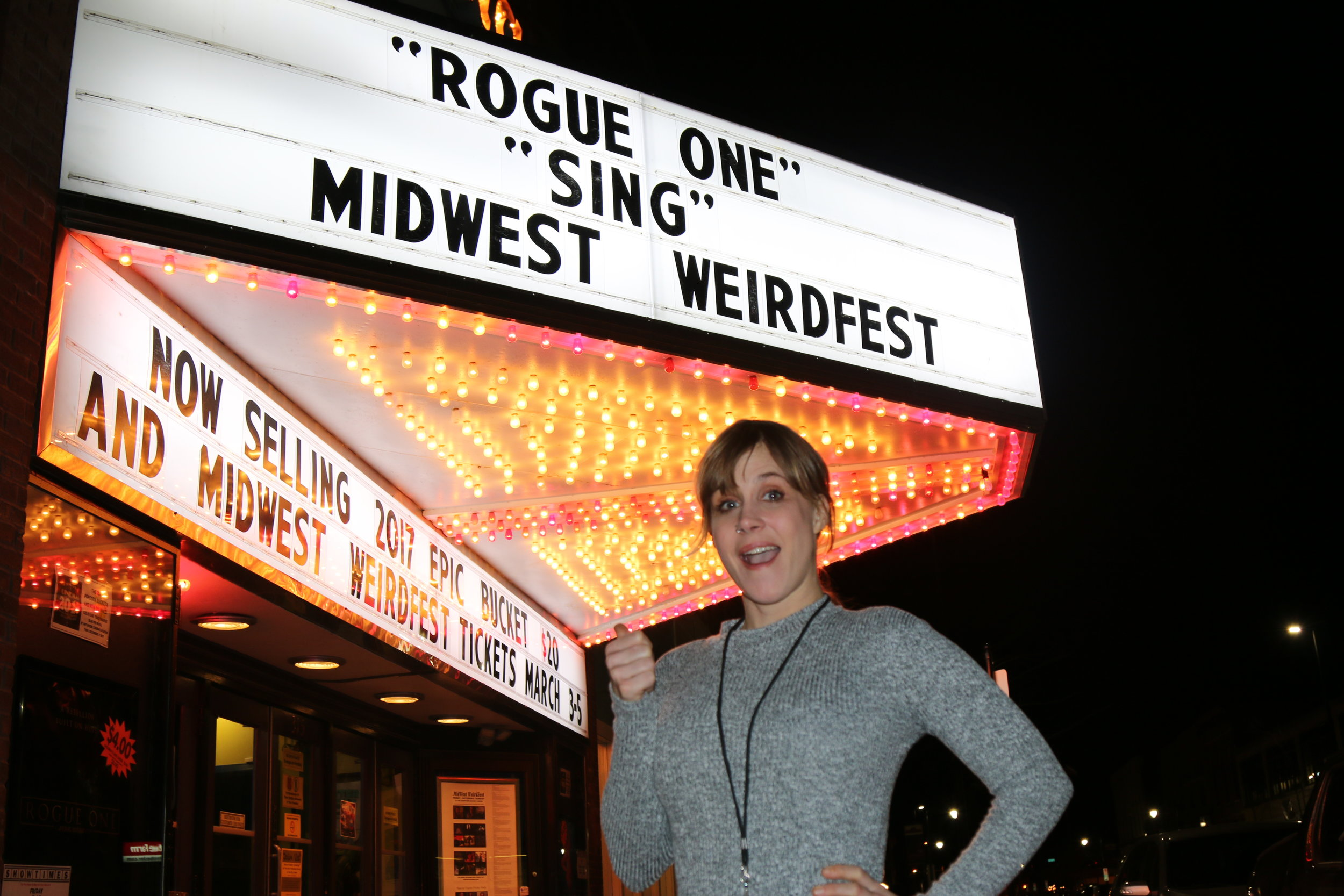 Bryna Smith (lead actress and visual effects artist NEIL STRYKER AND THE TYRANT OF TIME) at MidWest WeirdFest 2017. (Photo by Teddy Snider)