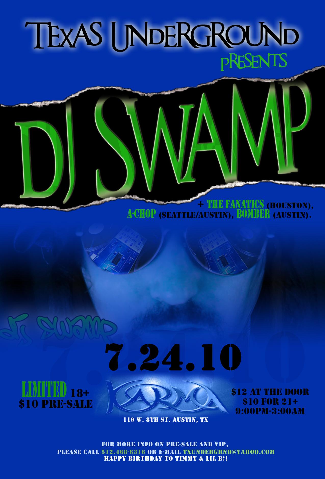 djswamp flier