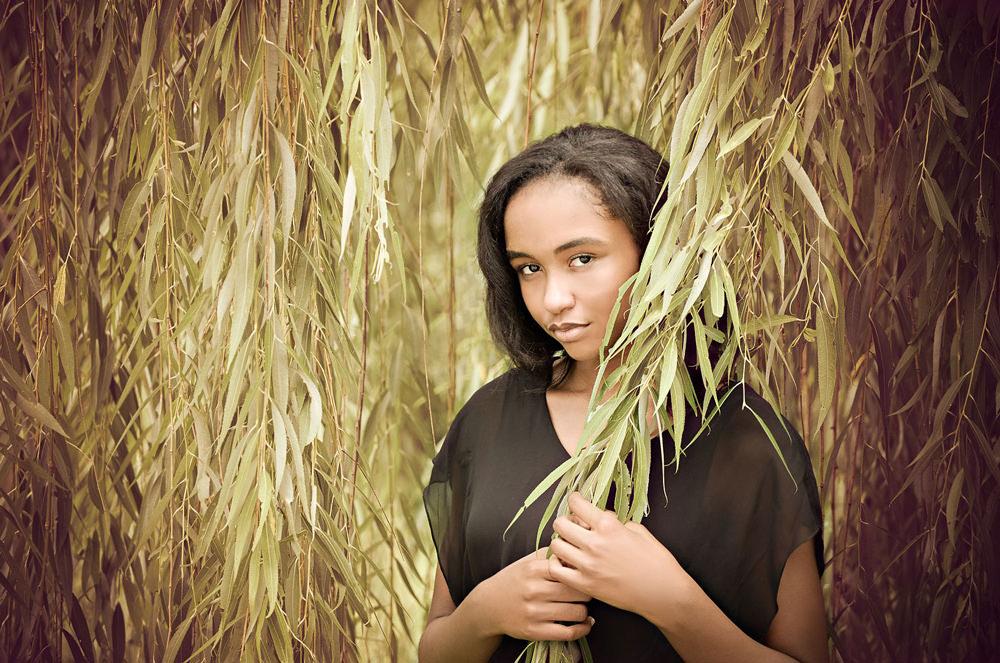 Senior Girl in Leaves - EP Photography