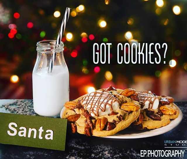 Santa is soon gonna start taking appointments!! Be on the look out for times . . .  #xmas #holidayportraits #cookieswithsanta #yumyum #cookiesandmilk