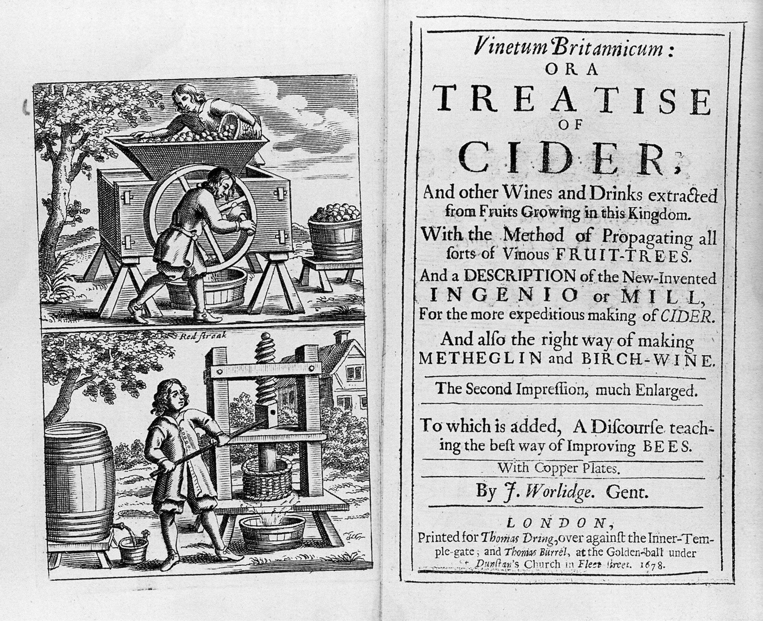 "Title page of ""Vinetum_Britannicum"" by John Worlidge, 1678 ed."