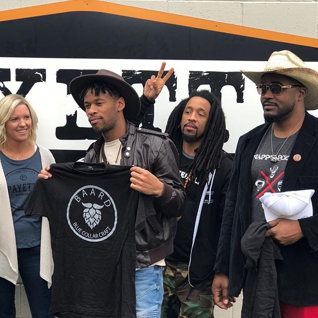 The @nappyroots knows what's up! #BlueCollar #Baard @payettebrewing
