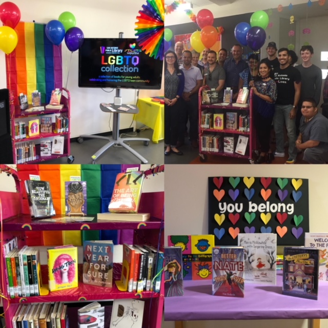 Dedication of the donation from Fiesta Youth. LGBTQ Book Collection
