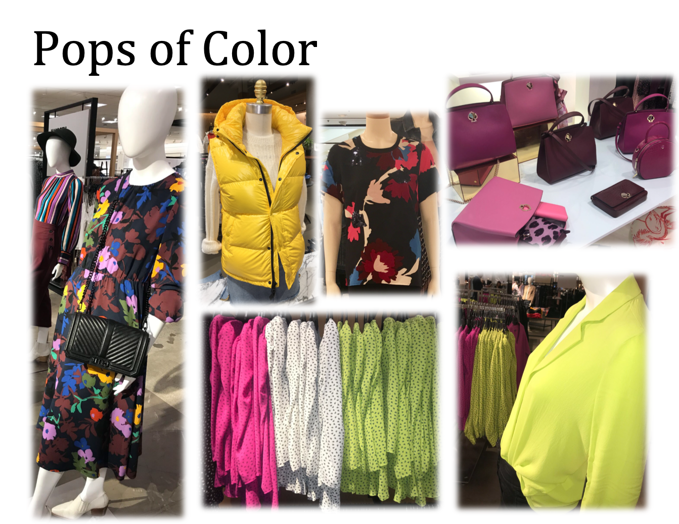The darker months of autumn and winter can feel long, why not boost the season with some serious color options, why not highlighter yellow or pink!