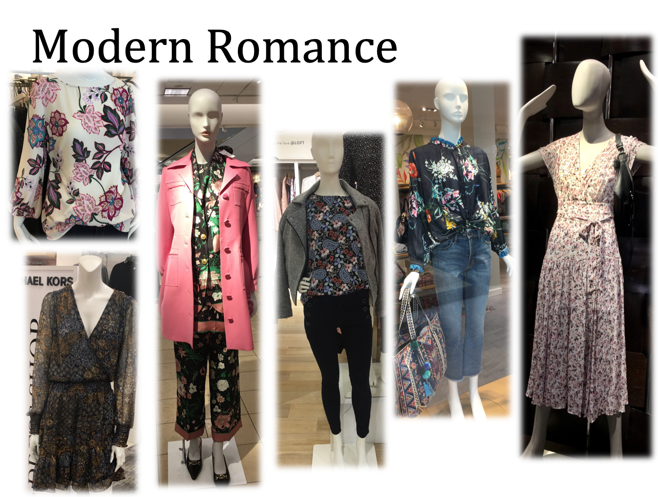 Floral's for winter with dark grounds gives a fresh take on this feminine vibe.