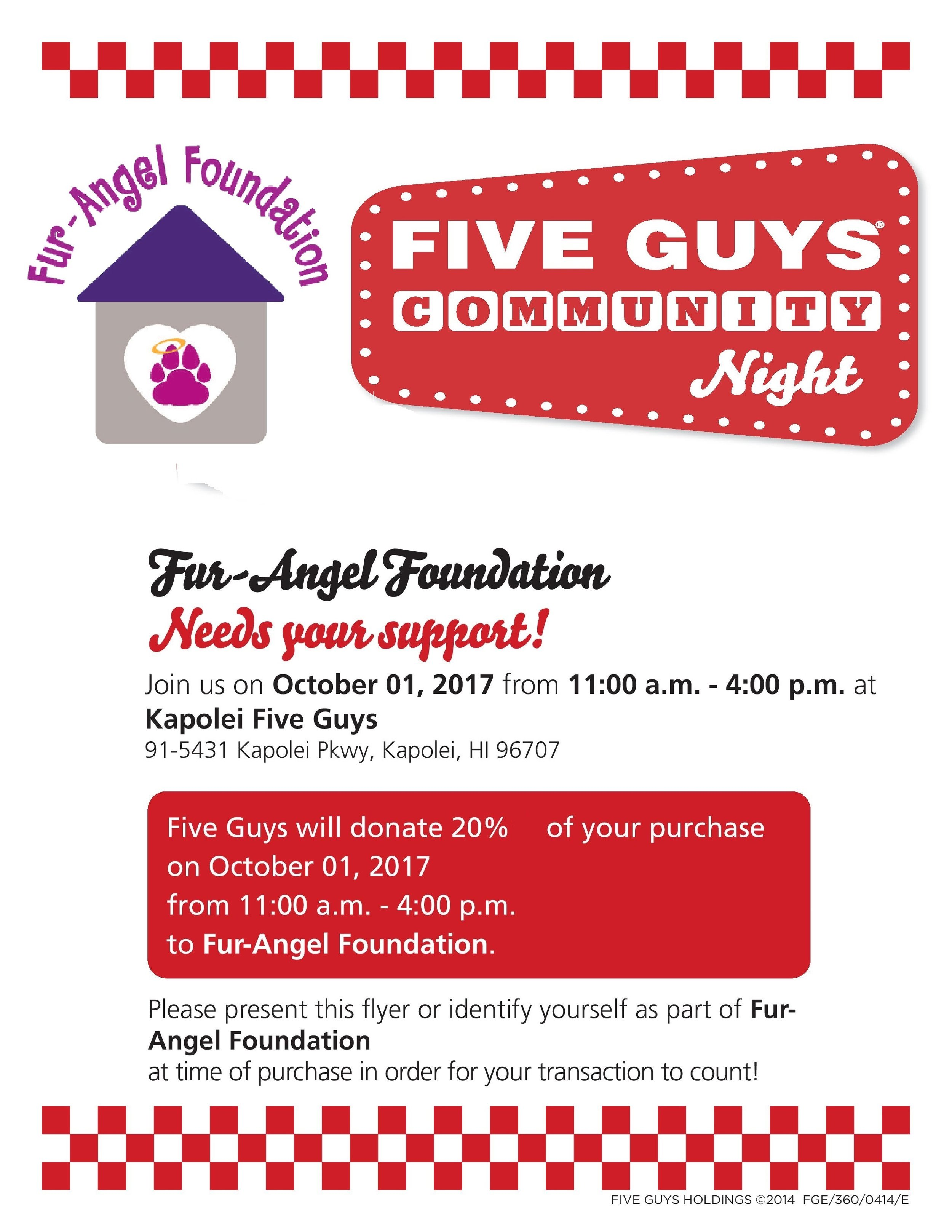 Kapolei Fur-Angel Foundation Community Night Flyer.jpg