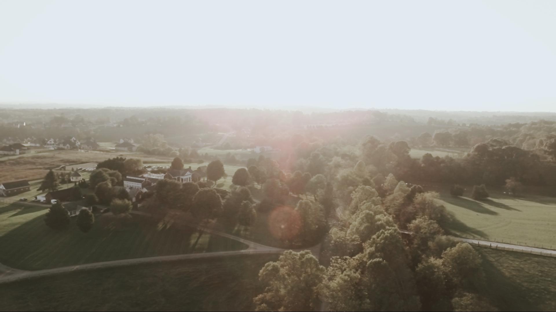 drone lynchburg wedding film