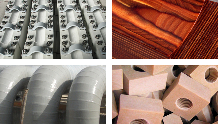 Some examples of composites in action, including as structural supports, pipeline cladding, and in fastening systems.
