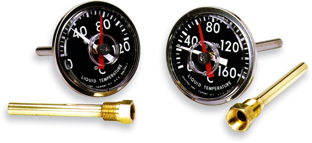 Direct mount transformer thermometers