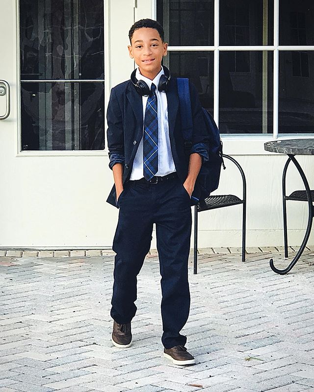 He turned 10 years old just a few days ago. Wearing his favorite brand  @frenchtoastcom #myson #coolkid #uptownwithmickaa #styleinspo #lovehim #frenchtoastkids