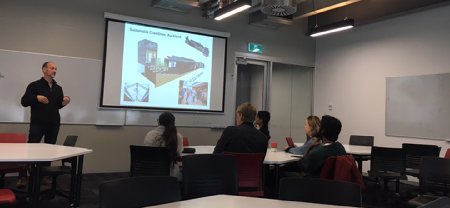 "Jasmax deliver a guest talk to undergrad final-year students at AUT University on Wednesday, 15-August-2018 - (14:30-16:30) @ WZ501.   Jerome Partington    Sustainability Manager - Associate Principal    Practice Services, Auckland   Jerome is passionate about the environment and has long been an advocate for sustainability. Focused on finding sustainable solutions that meet people's needs without undermining our society or the bio-system, Jerome is one of the leading sustainability specialists in the country.  He has worked in architectural practice and education for twenty years, with a strong practical construction and technology emphasis. Experience includes many building reuse projects, ecological based design and solar design. He has a wealth of experience in 'eco' building materials and systems. His first six years at Jasmax were spent delivering projects in the healthcare, commercial and cultural sectors. Since then he has been developing a strategic, goal led approach to sustainable design and practice, that helps remove barriers and obstacles to success.  As an NZGBC Accredited Professional Jerome offers specific support and advice on Green Star projects and engages in project reviews using JEMS, recently certified to ISO 14001. He provided the sustainable design framework and guided the team to solutions for Te Uru Taumatua, the Tuhoe headquarters, which is targeting Living Building Challenge certification. This will be NZ's most advanced restorative/ sustainable project.  Jerome's role as Sustainability Manager is to ensure Jasmax's designs realise their potential for sustainable outcomes by using the innovative Integrated Sustainable Design (ISD) process which uses a systems world view to optimise outcomes, rather than traditional silo approach. He facilitates ISD sessions to ""turbo-charge"" projects to ensure it delivers sustainable outcomes."
