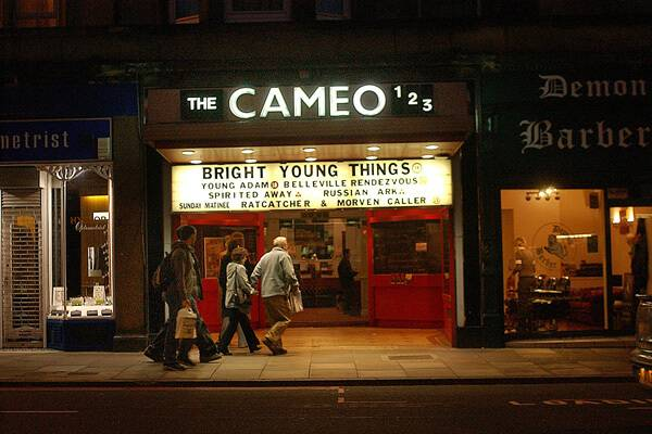 "The Cameo (est. 1914)  still sits on the route into town from Greenbank. In 1996 it hosted the world premier of ""Trainspotting""."